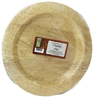 Bamboo Dinnerware Round Plate Reusable Disposable 11.5""
