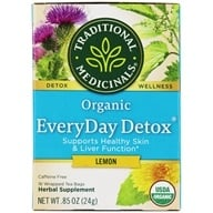 Traditional Medicinals - Lemon EveryDay Detox Tea - 16 Tea Bags