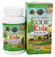 Garden of Life - Vitamin Code Kids Whole Food Multivitamin Cherry Berry - 60 Chewables