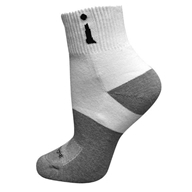 Incrediwear - Bamboo Charcoal Socks Above Ankle Sports Large White
