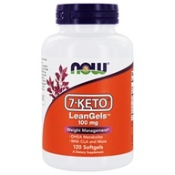 NOW Foods - 7-Keto LeanGels 100 mg. - 120 Softgels