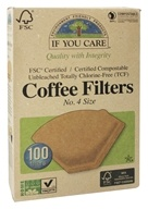 Coffee Filters #4 Size Cone Style Unbleached Totally Chlorine-Free (TCF)