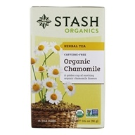 Stash Tea - Premium Organic Caffeine Free Herbal Tea Chamomile - 18 Tea Bags