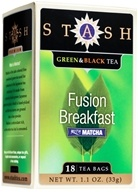 Premium Fusion Breakfast Green & Black Tea with Matcha