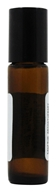 Amber Glass Bottle with Roll On Applicator and Black Cap