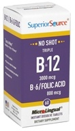 No Shot Triple B12 3,000 mcg, B6 & Folic Acid Instant Dissolve Micro-Tablets