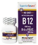 No Shot B12 Methylcobalamin 1000 mcg with B6 & Folic Acid 800 mcg
