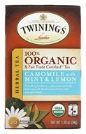 Organic Camomile with Mint and Lemon Tea