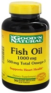 Fish Oil 1000 mg 600 mg Total Omega-3