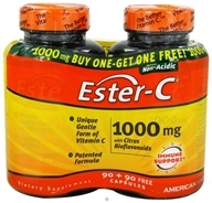 DROPPED: American Health - Ester C With Citrus Bioflavonoids  BOGO Size 1000 mg. - 180 Capsules 90+90 FREE