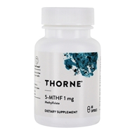 Thorne Research - 5-MTHF 1 mg. - 60 Vegetarian Capsules