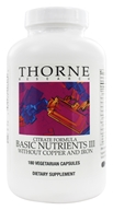 Basic Nutrients III Citrate Formula without Copper and Iron
