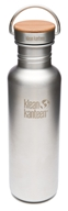 Klean Kanteen - Stainless Steel Water Bottle Reflect with Stainless Bamboo Cap Brushed Stainless - 27 oz.