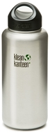 Stainless Steel Water Bottle Wide with Stainless Loop Cap
