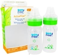 Active Flow Eco Deco Baby Bottle BPA Free Twin Pack