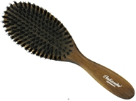 Pure Natural Bristle Hairbrush Oval Dark Wood
