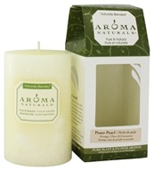 "Peace Pearl Naturally Blended Pillar Eco-Candle 2.5"" x 4"""