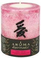 "Spirituals Love Naturally Blended Pillar Eco-Candle 3"" x3.5"""
