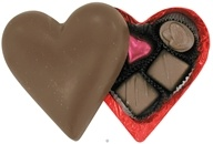 Milk Chocolate Heart Filled with 5 Assorted Vegan Chocolates