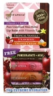 Pure Shea Butter Lip Balm Variety Pack