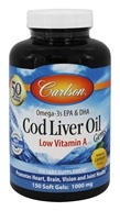 Cod Liver Oil Gems Low Vitamin A