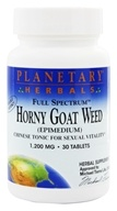 Planetary Herbals - Horny Goat Weed Full Spectrum Double Potency 1200 mg. - 30 Tablets
