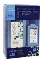 Thinning Hair Treatment System Age Defying Kit with Argan Fruit Stem Cells