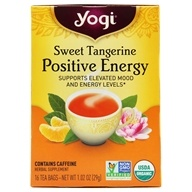 Yogi Tea - Positive Energy Tea with Organic Green Mate Sweet Tangerine - 16 Tea Bags