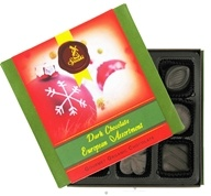 European Assortment Gourmet Organic Dark Chocolate With Holiday Sleeve