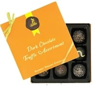Truffle Assortment Gourmet Organic Dark Chocolate