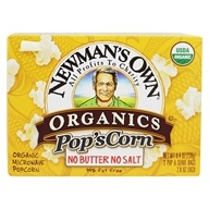 Pop's Corn Organic Microwave Popcorn Unsalted - 3 Pop & Serve Bags (2.8 oz)