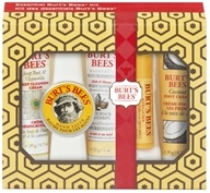 Essential Burt's Bees Kit with Holiday Sleeve Gift Set