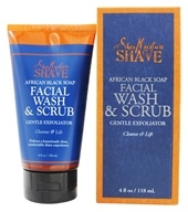 Shave African Black Soap Facial Wash & Scrub Gentle Exfoliator for Men
