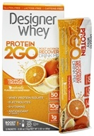 Designer Whey Protein 2 Go Drink Mix Tropical Orange - 5  x .56 oz(16g) Packets