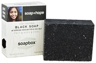 All Natural Bar Soap with Shea Butter and Sea Salt Black Soap