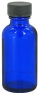 Cobalt Blue Glass Bottle with Cap