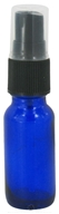 Cobalt Blue Glass Bottle with Mist Sprayer