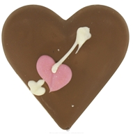 Solid Vegan Milk Chocolate Small Heart