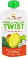 Happy Squeeze Organic SuperFoods Fruit and Veggie Twist