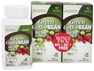Green Coffee Bean Extract 400 mg. Bonus Pack 2 x 60 Vegetarian Capsules