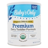 Organic Dairy Based Iron Fortified Toddler Formula with DHA and ARA