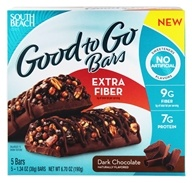 South Beach Diet - Good to Go Cereal Bars Extra Fiber Dark Chocolate - 5 Bars