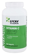 LuckyVitamin Vitamin C With Rose Hips 1000 mg. - 250 Table ...