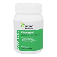 LuckyVitamin - Vitamin D-3 1000 IU - 240 Tablets