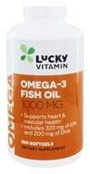 LuckyVitamin - Omega-3 Fish Oil 1000 mg. - 500 Softgels