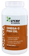LuckyVitamin - Omega-3 Fish Oil 1000 mg. - 175 Softgels