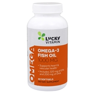 LuckyVitamin Omega-3 Fish Oil 1000 mg. - 60 Softgels