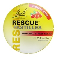 Bach Original Flower Remedies - Rescue Remedy Pastilles Cranberry - 1.7 oz.