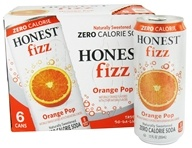 Zero Calorie Soda Orange Pop - 6 x 12 oz. Cans