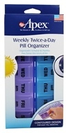 Apex Twice-a-Day Weekly Pill Organizer